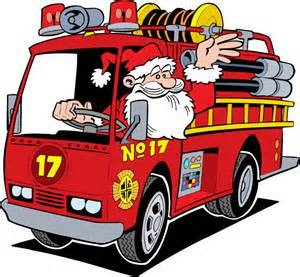Santa is Coming on the 38′ Fire Truck